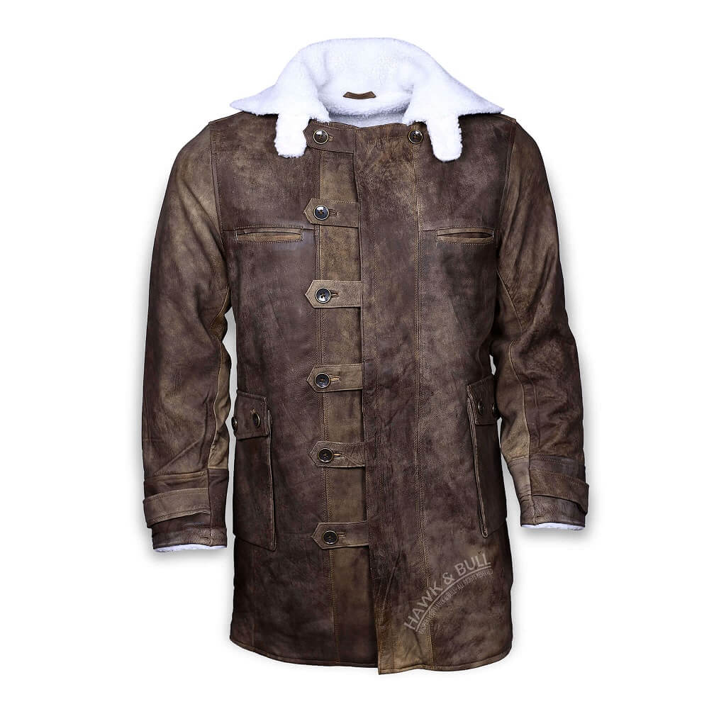 bane coat real leather front side