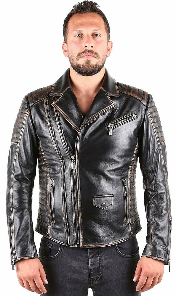 marlon brando leather jacket the wild one front side
