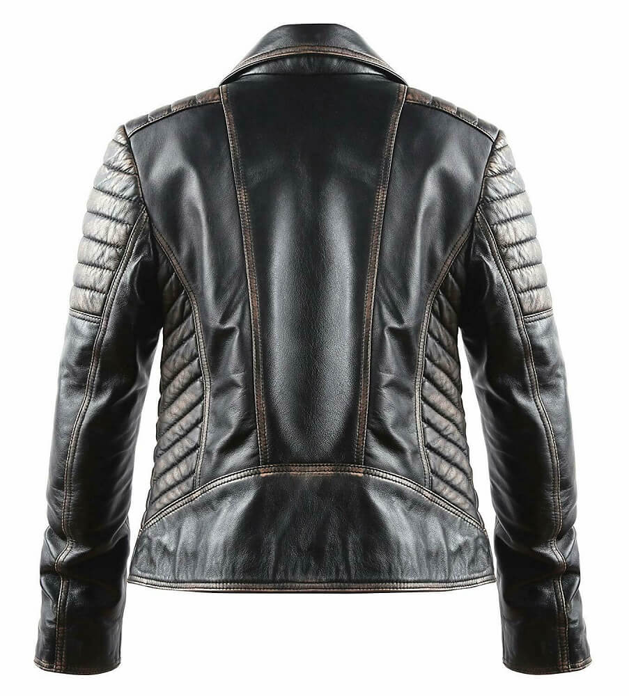 marlon brando leather jacket the wild one back side