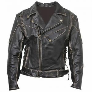 terminator brando leather jacket front side