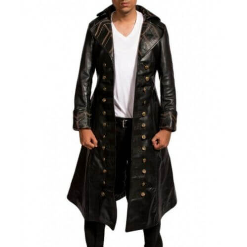 captain hook jacket once upon a time front side
