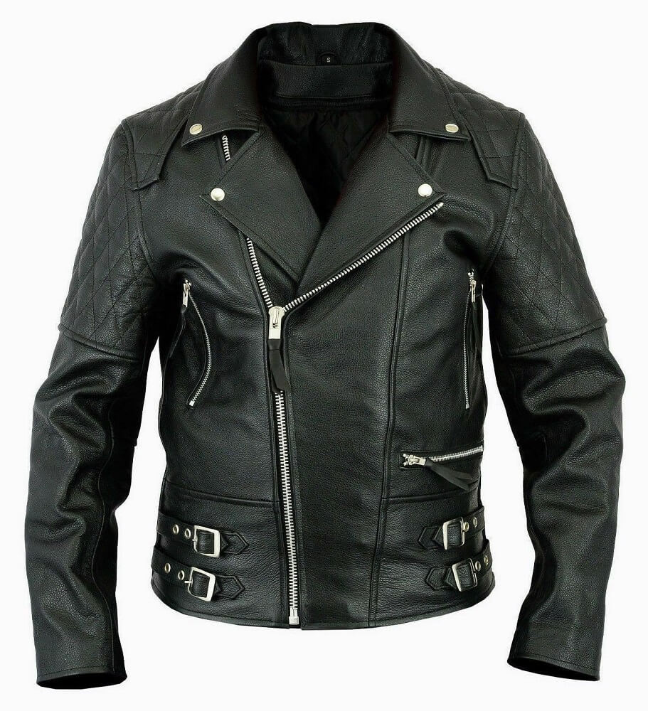 brando style leather jacket
