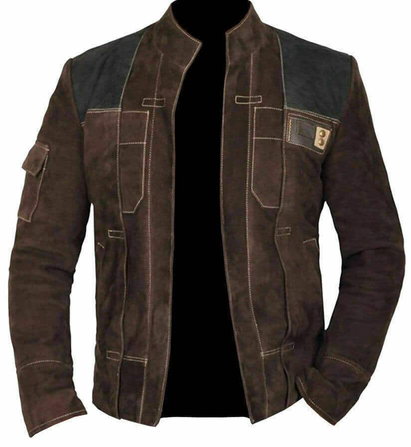 han solo leather jacket front side