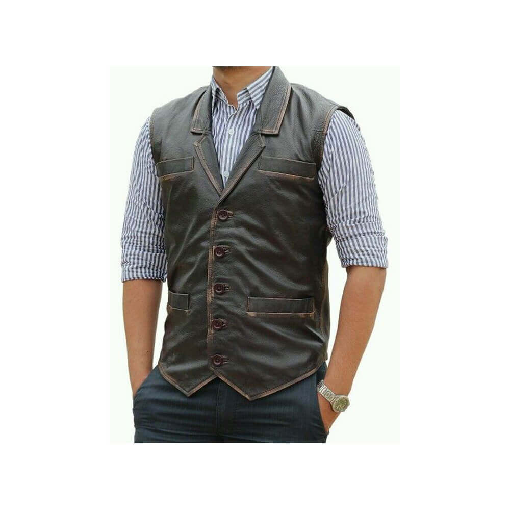 hell on wheels bohannon vest front size