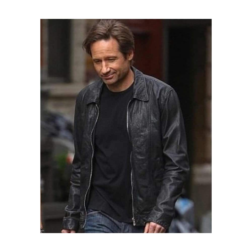 hank moody leather jacket movie scene