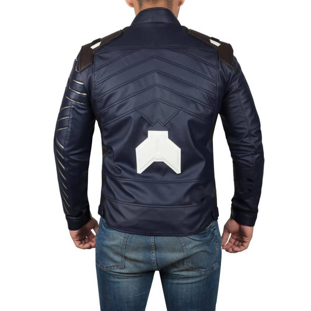 winter soldier jacket back side