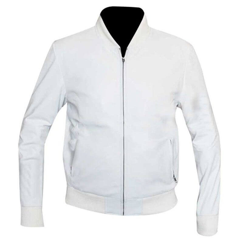 white bomber jacket mens