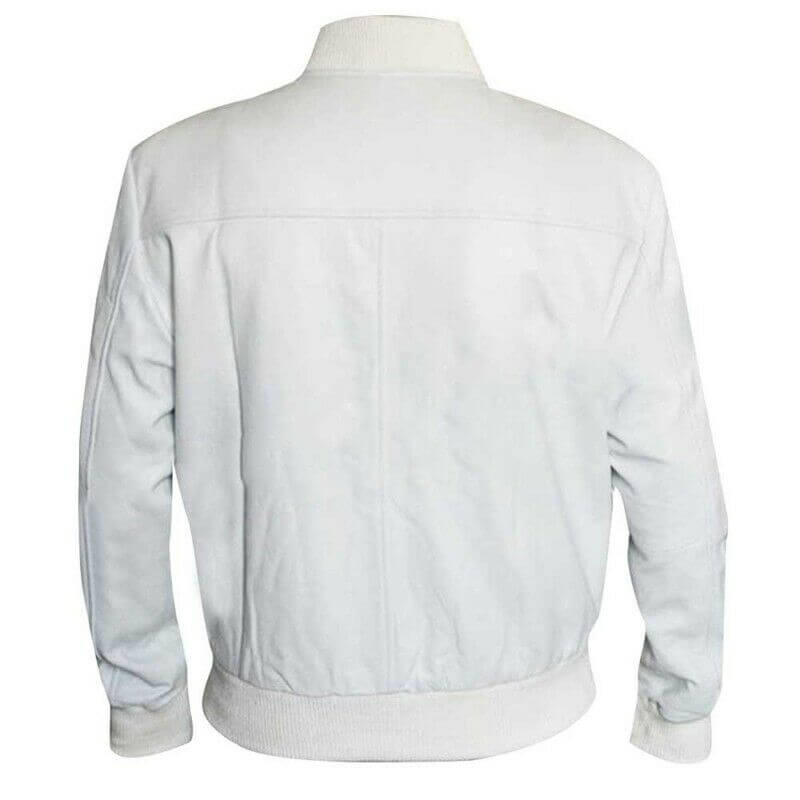 white bomber jacket mens back side