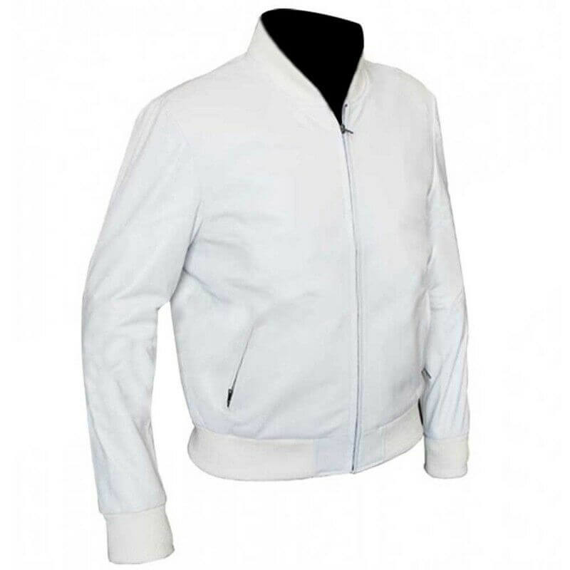 white bomber jacket mens left side