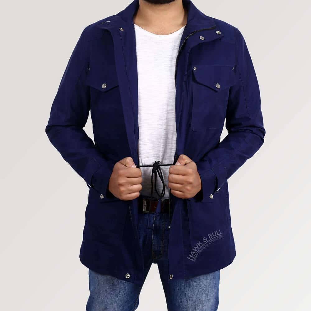 dean winchester navy blue jacket